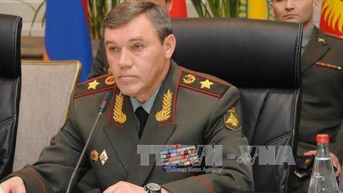 Tổng Tham mưu trưởng Các lực lượng vũ trang, Thứ trưởng Quốc phòng Nga Valery Gerasimov. Ảnh: Anadolu Agency/TTXVN