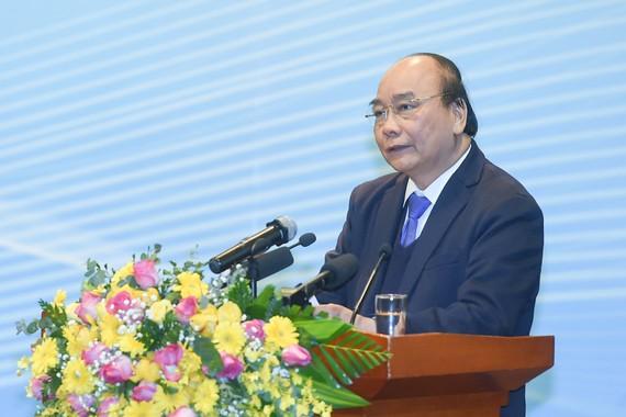 Thủ tướng Nguyễn Xuân Phúc phát biểu tại Hội nghị tổng kết của Tập đoàn Dầu khí Quốc gia Việt Nam - Ảnh: VGP