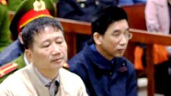Bị cáo Trịnh Xuân Thanh tại phiên tòa xét xử ngày 10-1