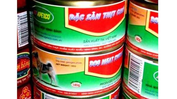 """Sản phẩm đồ hộp """"Đặc sản thịt chó"""" lan truyền trên mạng xã hội khiến dư luận xôn xao"""