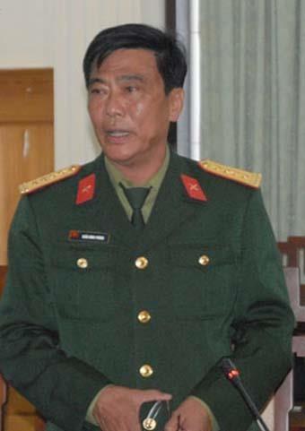 Ông Trần Đình Phòng, nguyên Chỉ huy trưởng Bộ Chỉ huy Quân sự tỉnh Thừa Thiên – Huế