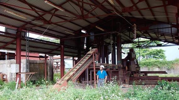 Nhà máy chế biến cà phê bị bỏ hoang
