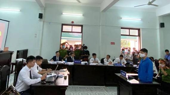Bị cáo Lê Quang Huy Phương tại phiên tòa sơ thẩm