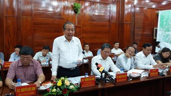 Phó Thủ tướng Thường trực Trương Hòa Bình phát biểu