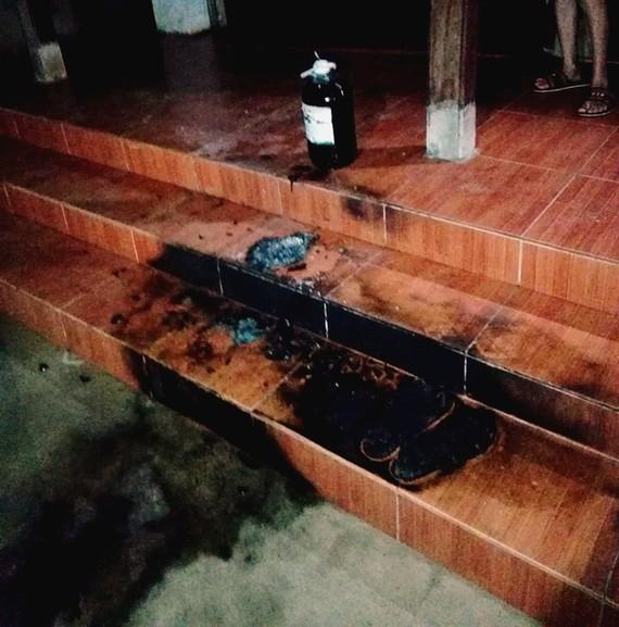 Hiện trường xảy ra vụ việc tại nhà ông Phan Văn Đệ