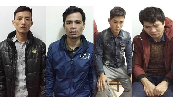 Các đối tượng bị cơ quan công an bắt giữ