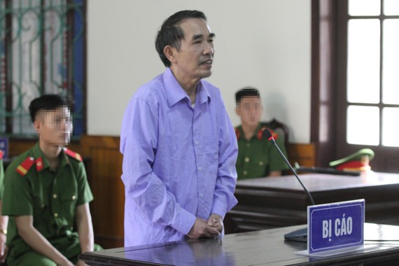 Bị cáo Lê Hải Châu tại phiên tòa