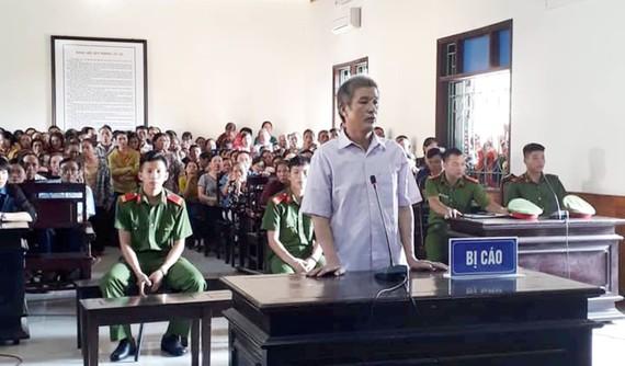 Bị cáo Nguyễn Trọng Đoàn tại phiên tòa