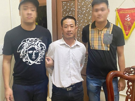 Lê Minh Hải bị bắt giữ. Ảnh Công an Hà Tĩnh