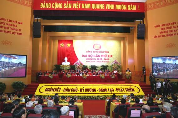 Quang cảnh Đại hội đại biểu Đảng bộ tỉnh Hà Tĩnh