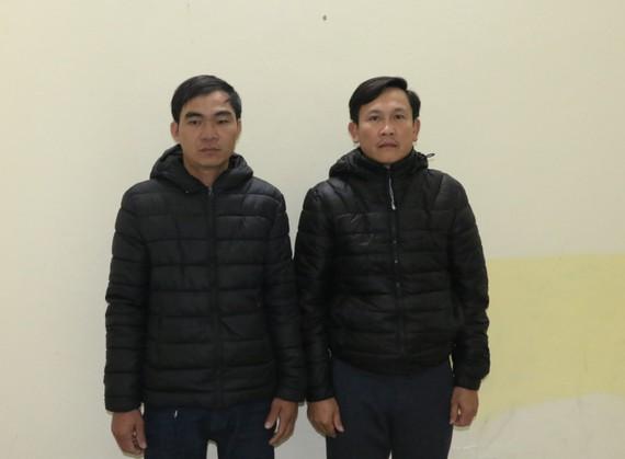 Lê Đình Đức và Đoàn Thanh Bằng tại Cơ quan An ninh điều tra. Ảnh: Công an Hà Tĩnh cung cấp