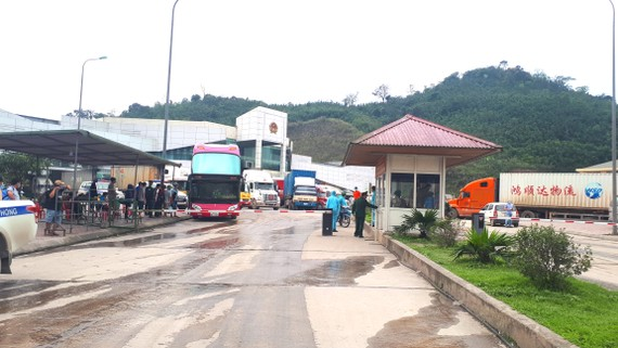 Cửa khẩu Quốc tế Cầu Treo ở huyện Hương Sơn, tỉnh Hà Tĩnh