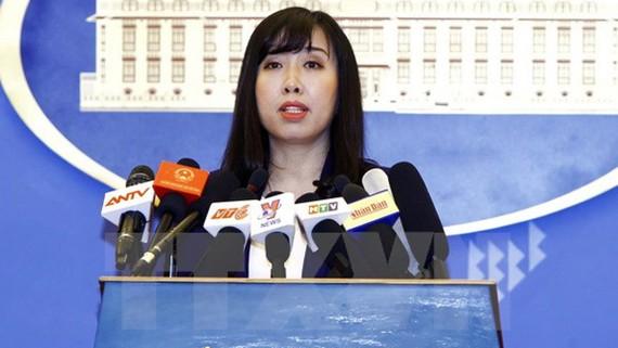 Người phát ngôn Bộ Ngoại giao Lê Thị Thu Hằng. Ảnh: TTXVN