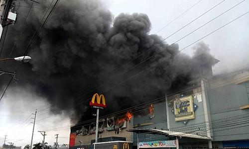 Hiện trường vụ hỏa hoạn. Ảnh: MB