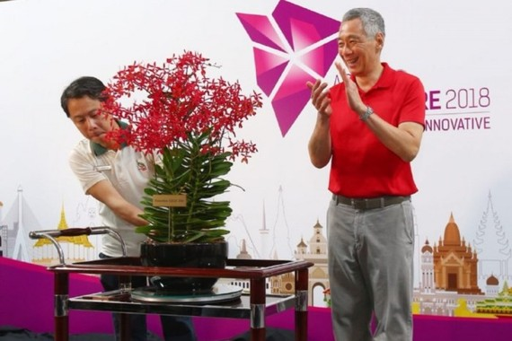 Thủ tướng Singapore Lý Hiển Long. Ảnh: AP