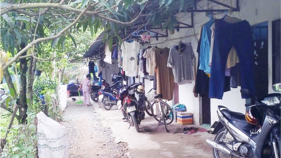 Hàng ngàn công nhân làm việc tại TPHCM  ở trong những dãy nhà trọ xập xệ