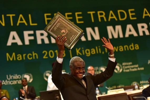 Chủ tịch Ủy ban Liên minh châu Phi (AU) Moussa Faki Mahamat. Ảnh: KTPRESS