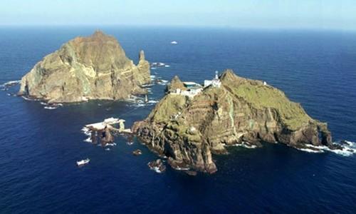 Quần đảo tranh chấp giữa Hàn Quốc và Nhật Bản Dokdo/Takeshima. Ảnh: KOREAJJANG