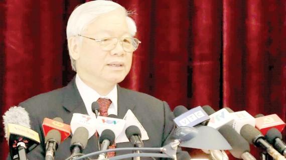 Tổng Bí thư Nguyễn Phú Trọng phát biểu khai mạc hội nghị