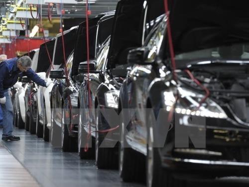 Sau nhôm và thép, ô tô có thể là mặt hàng tiếp theo bị Mỹ đánh thuế nhập khẩu. Ảnh minh họa: TTXVN