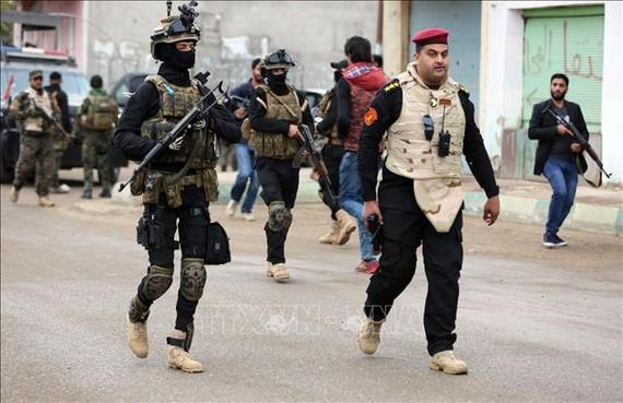 Cảnh sát Iraq gác tại thị trấn Muqdadiyah, tỉnh Diyala. Nguồn: TTXVN