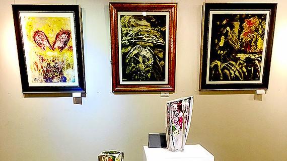 Triển lãm tranh của họa sĩ Đoàn Việt Tiến đang diễn ra tại Hội Mỹ thuật TPHCM