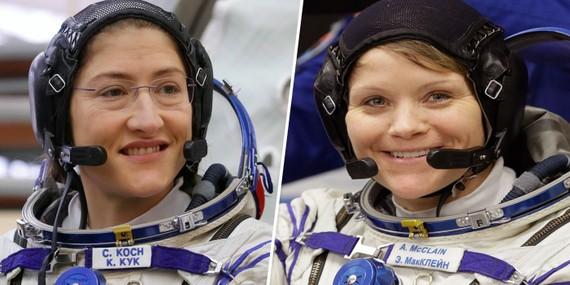 2 phi hành gia nữ Christina Koch và Anne McClain. REUTERS, AP