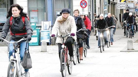 Ngày càng có nhiều người Đức sử dụng xe đạp