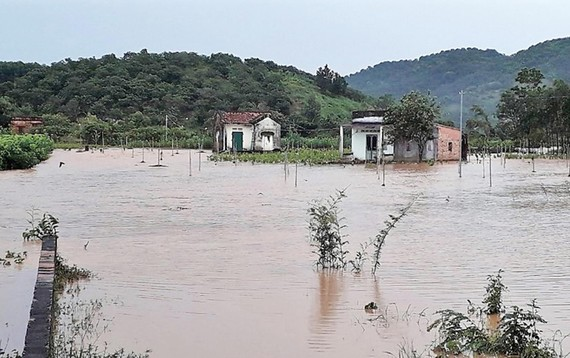 Nhiều giờ sau trận mưa lớn, nước vẫn gây ngập diện rộng trên địa bàn TP Bảo Lộc và huyện Đạ Huoai