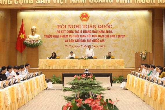 Phó Thủ tướng Thường trực Chính phủ Trương Hoà Bình phát biểu chỉ đạo tại Hội nghị. Ảnh: VGP