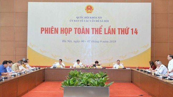 Ủy ban Về các vấn đề xã hội của Quốc hội họp phiên toàn thể  lần thứ 14. Ảnh: QUOCHOI.VN