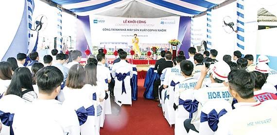 Tập đoàn Xây dựng Hòa Bình khởi công Nhà máy Coffa nhôm VGSI Đồng Nai