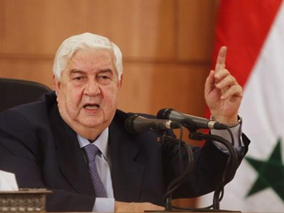 Ngoại trưởng Syria Walid al-Moualem.  Nguồn: ejinsight.com