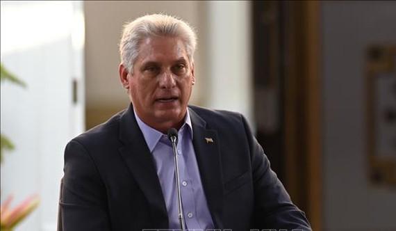 Chủ tịch Hội đồng Nhà nước và Hội đồng Bộ trưởng Cuba Miguel Díaz-Canel Bermúdez được Quốc hội nước này bầu vào cương vị Chủ tịch Cuba. Ảnh: TTXVN