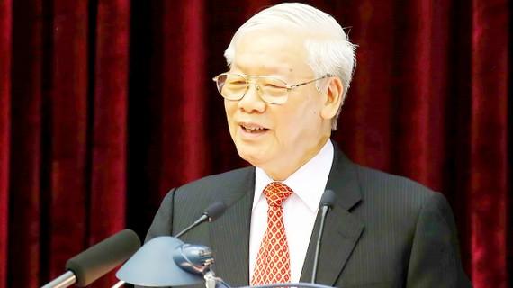 Tổng Bí thư, Chủ tịch nước Nguyễn Phú Trọng phát biểu bế mạc hội nghị