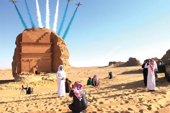 Khách du lịch đổ về Saudi Arabia