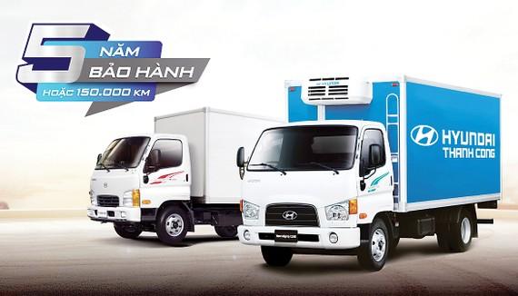 Xe thương mại Hyundai mở rộng hệ thống, tăng bảo hành 5 năm