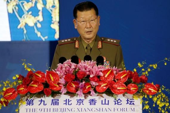 Thứ trưởng Bộ Quốc phòng Triều Tiên Kim Hyong-ryong. Ảnh: REUTERS