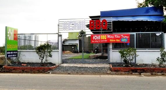 Một quán ăn xây dựng không phép tại Tiểu khu 3, KDC Bình Trị Đông