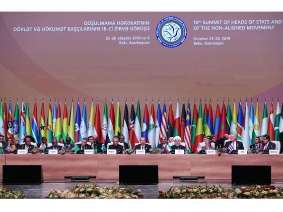 Các đại biểu tham dự Hội nghị Cấp cao lần thứ 18 của Phong trào Không liên kết