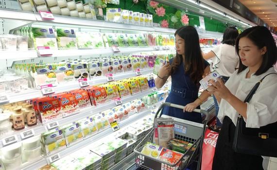 Sản phẩm sữa của Vinamilk đã có mặt tại các siêu thị của Trung Quốc
