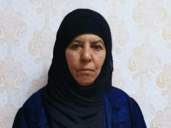 Chị gái của cựu thủ lĩnh IS Abu Bakr Baghdadi. (Nguồn: Hindustan Times)