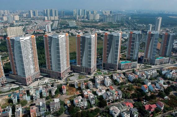 Không thể thiếu mảng xanh  tại các dự án bất động sản. Ảnh: THÀNH TRÍ