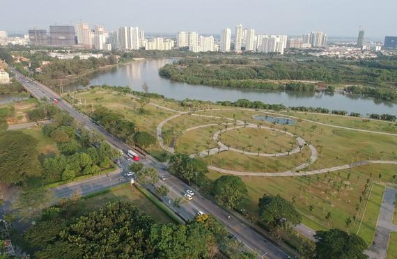 Một công viên mới tại quận 7, TPHCM. ẢNH: CAO THĂNG
