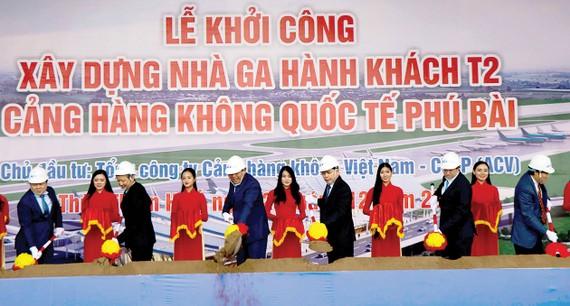 Khởi công xây dựng nhà ga hành khách T2 Cảng HKQT Phú Bài