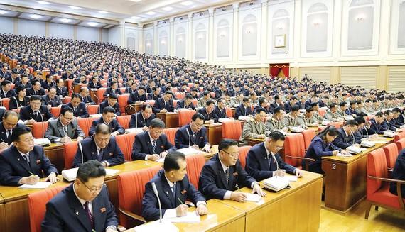 Hình ảnh phiên họp toàn thể lần thứ 5 của đảng Lao động Triều Tiên được KCNA công bố ngày 29-12