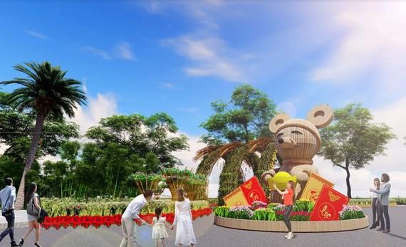 Xuất hiện Chuột Tài Lộc khổng lồ ở Đường xuân Phú Mỹ Hưng