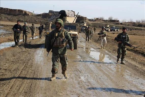 Lực lượng an ninh Afghanistan làm nhiệm vụ tại Kunduz ngày 4-2-2020. Ảnh: THX/TTXVN