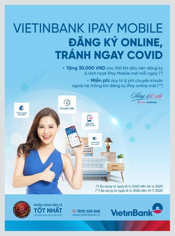 Tặng ngay 30.000 đồng và miễn phí giao dịch VietinBank iPay Mobile  