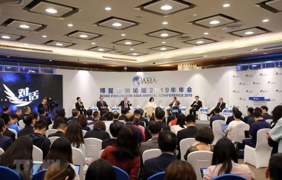 Toàn cảnh một phiên thảo luận của Hội nghị thường niên của Diễn đàn châu Á Bác Ngao tại Hải Nam, Trung Quốc, ngày 27-3-2019. Ảnh:  TTXVN
